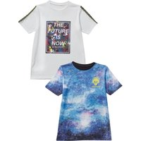 Older Boys Future Legend Pack of 2 White/Blue T-Shirts