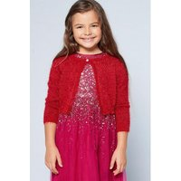 Younger Girls Sparkly Red Shrug