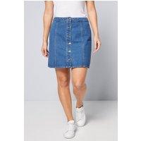 Basic Indigo Denim Button Through Skirt