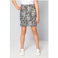 Older Girls Snakeskin Grey Denim Skirt