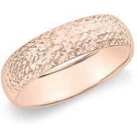 9ct Rose Gold 5mm Diamond Cut Ring