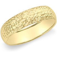 9ct Yellow Gold 5mm Diamond Cut Band Ring