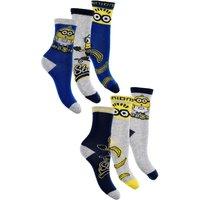 Pack of 6 Boys Minions Socks.