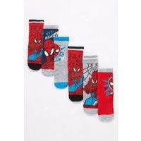 Boys Spiderman Pack of 6 Socks