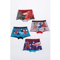 Boys Spiderman Pack of 4 Trunk