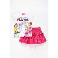 Girls Disney Princess Loyal T-Shirt and Skirt Set