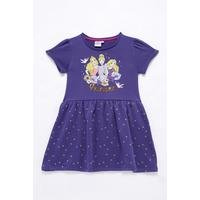 Girls Disney Princess Short Sleeve Polka Dot Dress