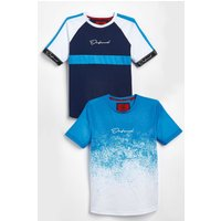 Pack of 2 Boys Navy Defend Vince T-Shirts
