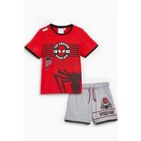 Boys The Amazing Spiderman Power T-Shirt and Shorts Set