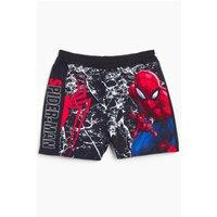 Boys Black Spiderman Swim Shorts