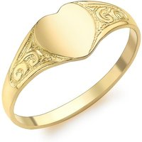 9ct Yellow Gold Heart Childs Signet Ring