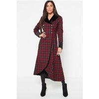Joe Browns Fluid Check Red Dress Coat