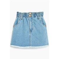 Girls Denim Frayed Hem Skirt