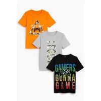 Older Boys Pack of 3 Gamer Legend Short Sleeve T-Shirts