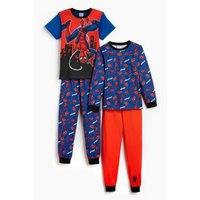 Boys Pack of 2 Spiderman Pyjamas