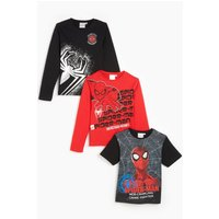 Boys Pack of 3 Spiderman T-Shirts