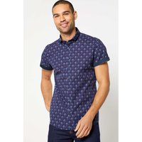Bewley and Ritch Dragon Navy Short Sleeve Shirt