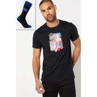 NASA Moon Landing T-Shirt and Socks Gift Set.