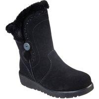 Skechers Keepsake Wedge Cozy Peak Black Mid Boots