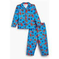 Boys Spiderman Button Through Long Sleeve Pyjamas