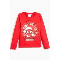 Boys Spiderman Merry Christmas Long Sleeve T-Shirt