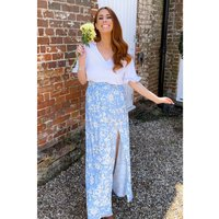 Stacey Solomon Blue Floral Maxi Skirt
