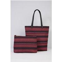 Boho Stripe Shopper Bag and Matching Purse Set