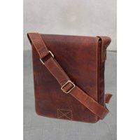 Firelog Leather Messenger Bag