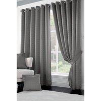 Malham Lined Jacquard Eyelet Curtains