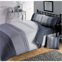 Pintuck Colour Panel Duvet Set with Fitted Sheet