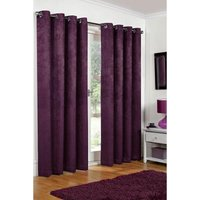 Embossed Blackout Lined Eyelet Curtains