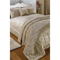 Luxury Crinkle Velvet Double Duvet Set
