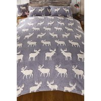 Warm and Cosy Teddy 3D Stag Double Duvet Set