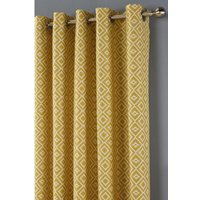 Inca Printed Eyelet Lined Curtains