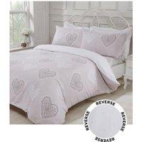 Decorative Hearts Reversible Duvet Set