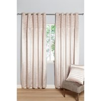 Sequin Quilted Border Velvet Lined Eyelet Curtains