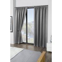 Cali Woven Blackout Pencil Pleat Curtains
