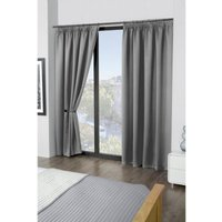 Cali Woven Blackout Lined Pencil Pleat Curtains