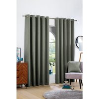 Victor Woven Canvas Look Eyelet Blackout Curtains