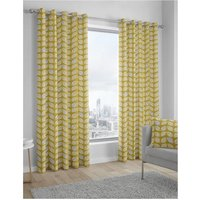 Delft Lined Eyelet Curtains