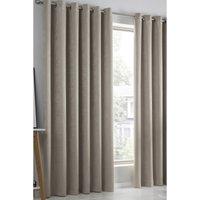 Strata Woven Blockout Eyelet Curtains