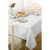 Damask Rose Round Jacquard Table Cloth