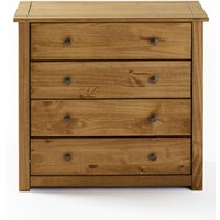 Santiago Solid Pine 4 Drawer Chest of Drawers
