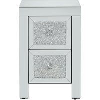 'Vienna 2 Drawer Mirrored Bedside Table