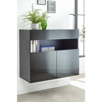 Galicia Wall Mounted Sideboard with LED Lights