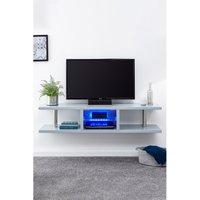 Polar High Gloss Wall Mounted LED TV Unit