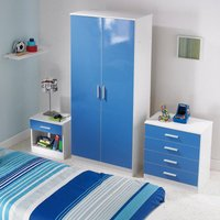 Carleton 3-Piece High Gloss Kids Bedroom Set