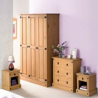 4-Piece Mexican Solid Pine Bedroom Set