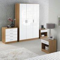 Carleton 4-Piece High-Gloss Bedroom Set