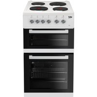 Beko White Twin Cavity Conventional Electric Cooker